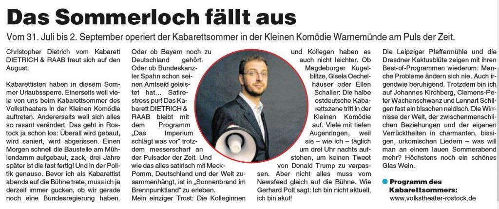 Artikel Theaterzeitung